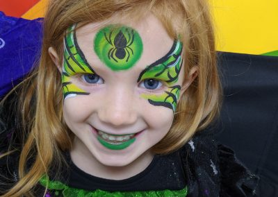 Vampire witch face paint