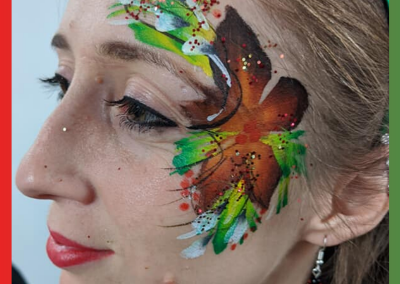 Adult themed face painting